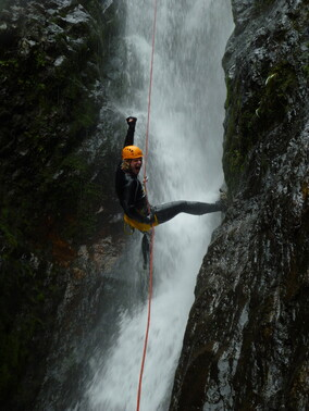 Canyoning Sleeping God Canyon